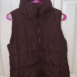A barely worn puffer style vest